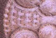 Fig.12 - Close up of weave, Bishops Cannings