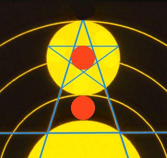 12 Upton Scudamore pentagram detail