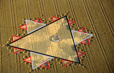 16 Silbury Koch fractal overlay