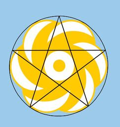 9 Barbury Castle pentagram diagram